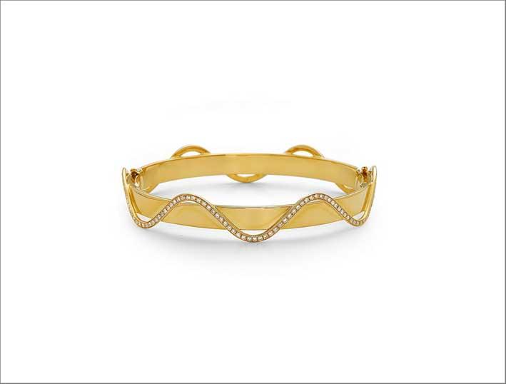 Bracciale in oro giallo 18 carati e diamanti