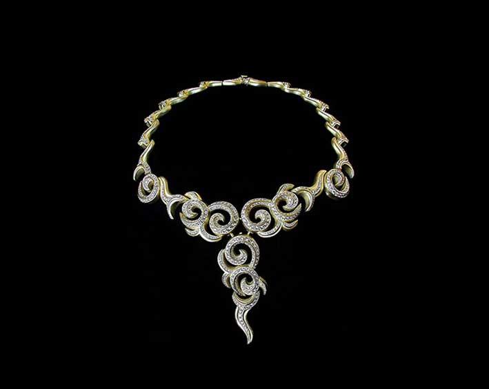 Collana in oro bianco e diamanti di Kieselstein-Cord