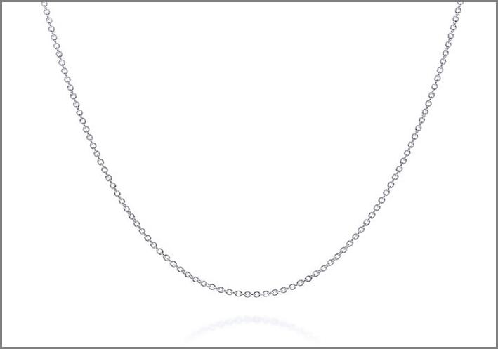 Tiffany, catena in argento. Prezzo: 60 euro