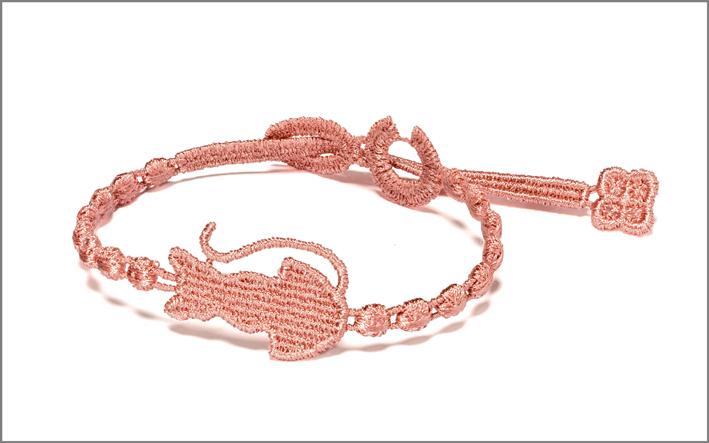 Bracciale Miao rosa antico