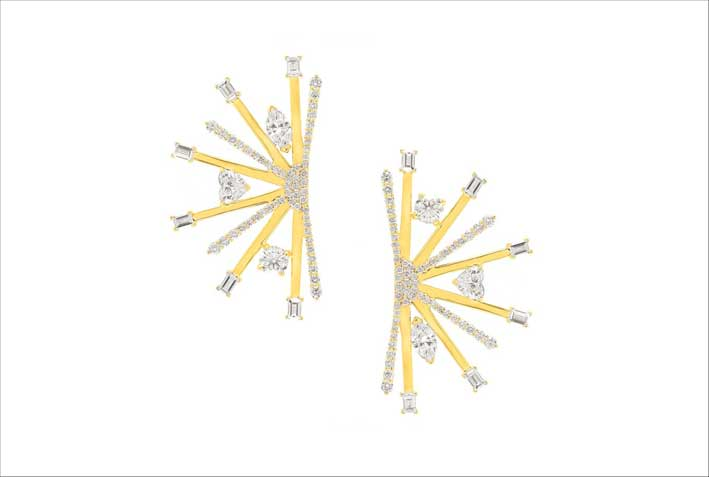 Orecchini Galaxy in oro giallo e diamanti