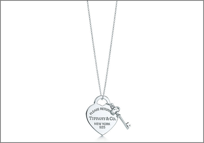 Pendente con ciondolo a cuore Return to Tiffany e chiave in-argento, grandezza media. Prezzo: 200 euro