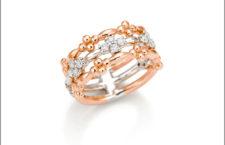 Giorgio Visconti, anello in oro bianco  e rosa con diamanti