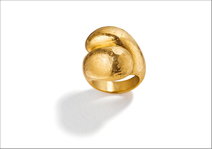 Anello Toi et Moi in oro vergine 22 carati