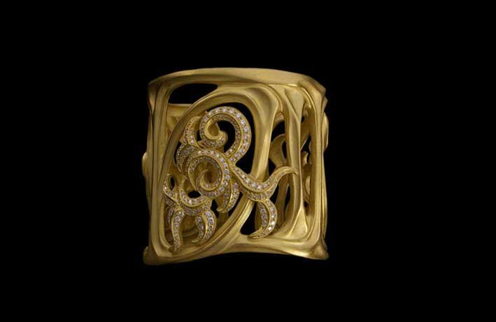 Bracciale Flame in oro e diamanti