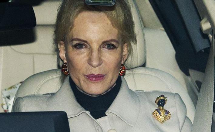 Marie Christine von Reibnitz, principessa del Kent, con la spilla di Nardi