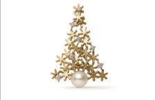 Spilla di Mikimoto in oro 18 carati, perla e diamanti