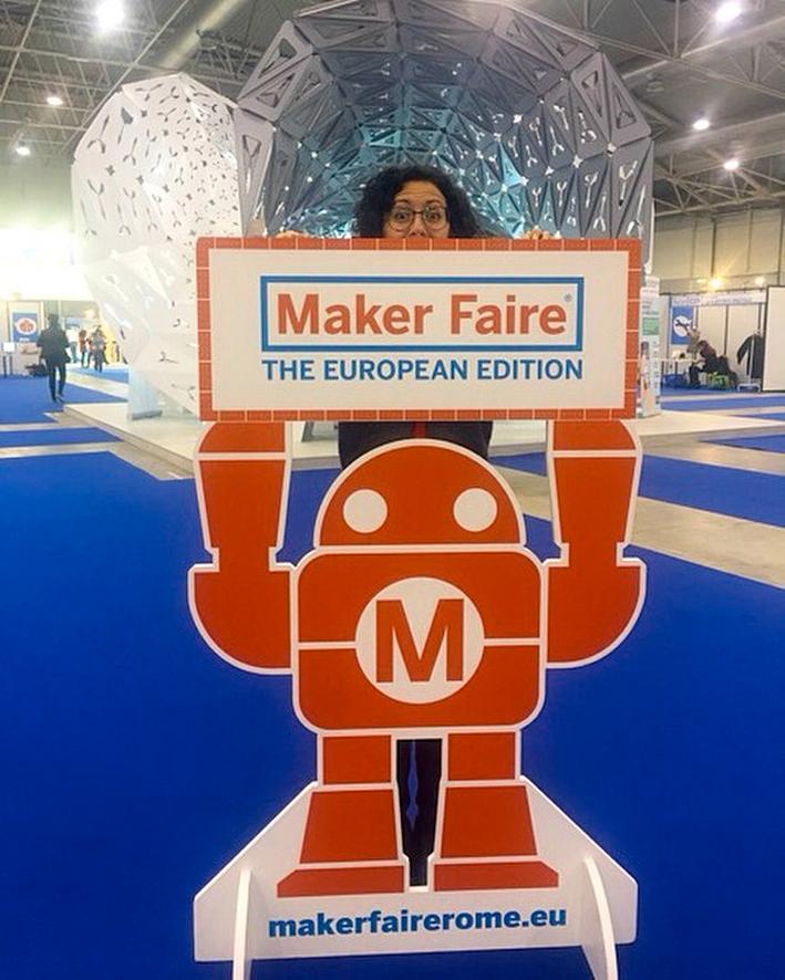 Valeria D'Annibale al Make Fair (da Instagram)