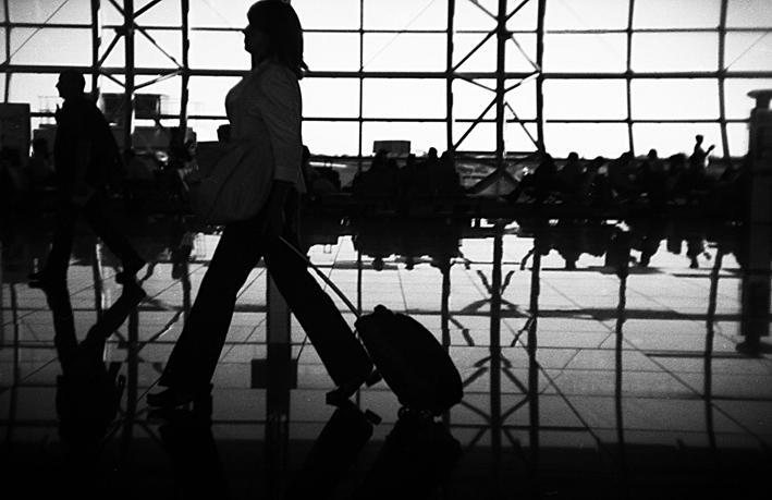 In aeroporto