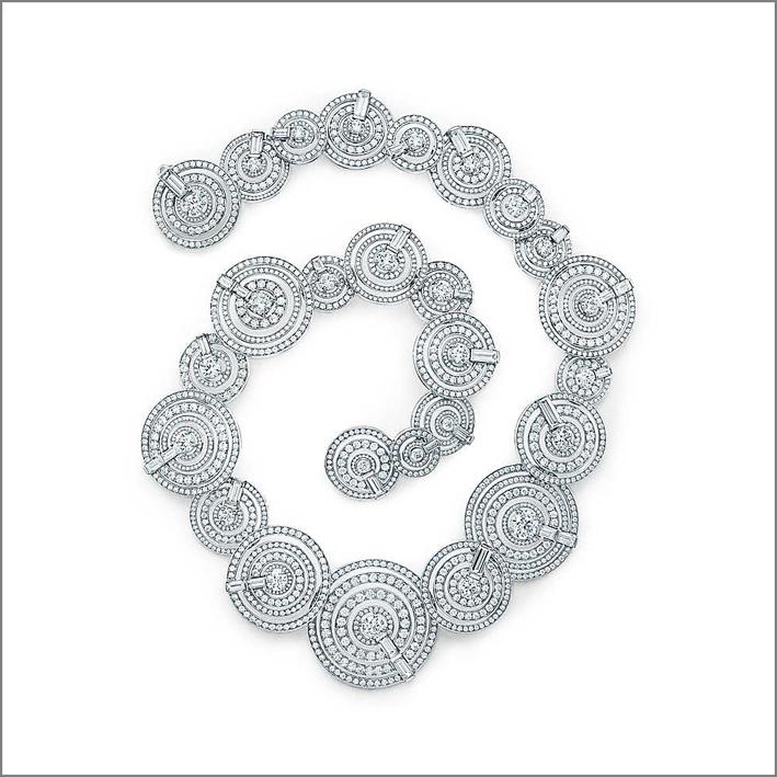 Tiffany, collana di diamanti, designer Francesca Amfitheatrof. Prezzo su richiesta