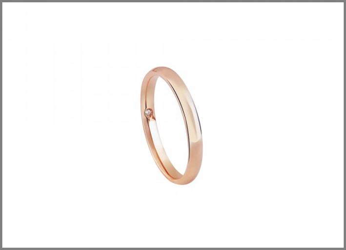 Fede in oro rosa Noi2. Disponibile anche in oro bianco o giallo. Prezzo: 490 euro