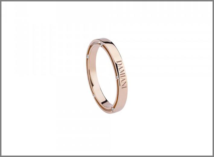 Collezione D.Side. Fede nuziale in oro rosa con diamanti. Prezzo: 998 euro