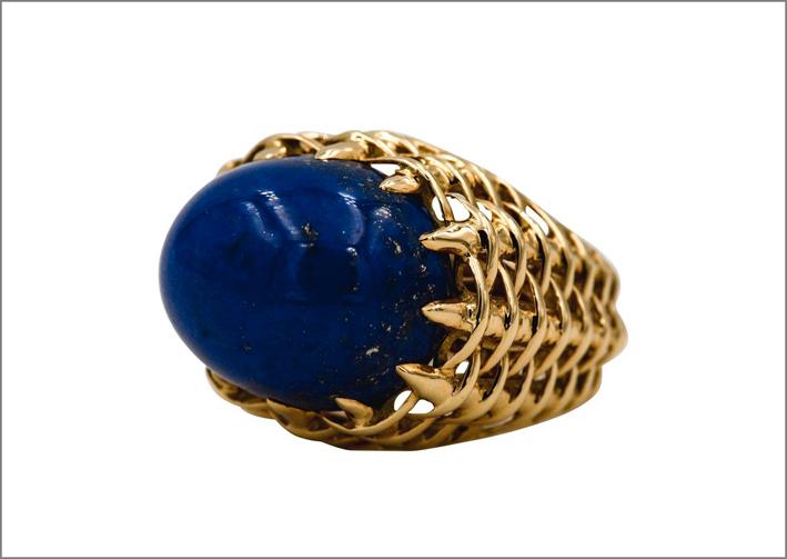 Anello di Seaman Schepps in oro e lapislazzuli