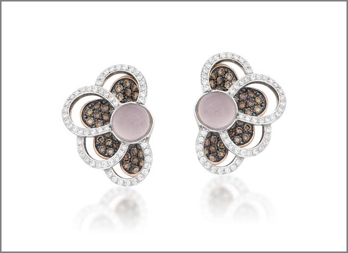 Brumani, orecchini della collezione Laces