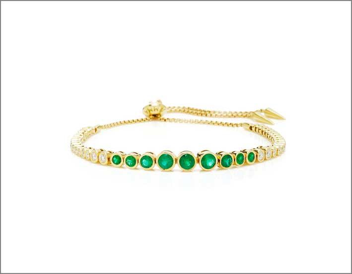 Bracciale in oro con smeraldi