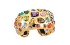 Bracciale di Seaman Schepps degli anni Cinquanta in oro e gemme colorate