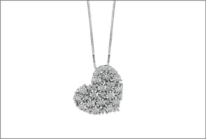 Collier in oro e diamanti collezione Splendori. Prezzo: 999 euro