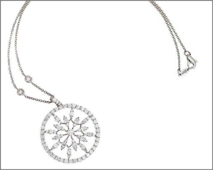 Leo Pizzo, collezione Merletti, pendente in oro bianco e diamanti