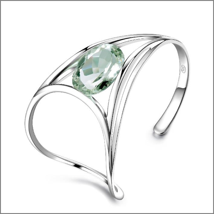 Pianegonda, bracciale in argento e ametista verde di 14,75 carati. Prezzo: 495 euro