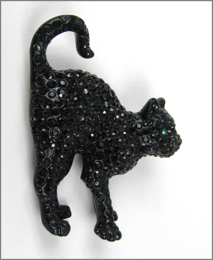 Spilla Swarovski con cristalli neri