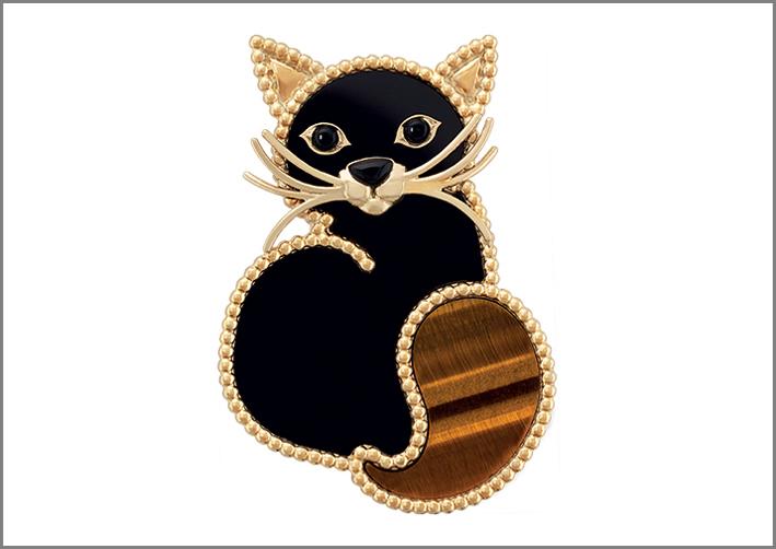 Van Cleef & Arpels, clip Chat della collezione Lucky Animals