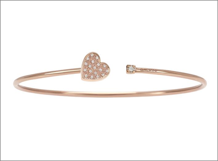 Bracciale I Segni, in oro rosa e diamanti