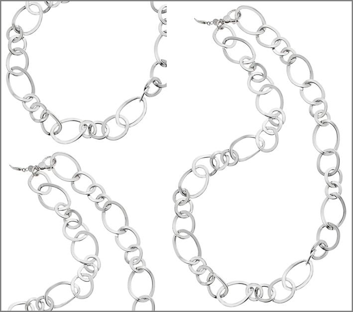 Raspini, collana in argento  della collezione Chelsea