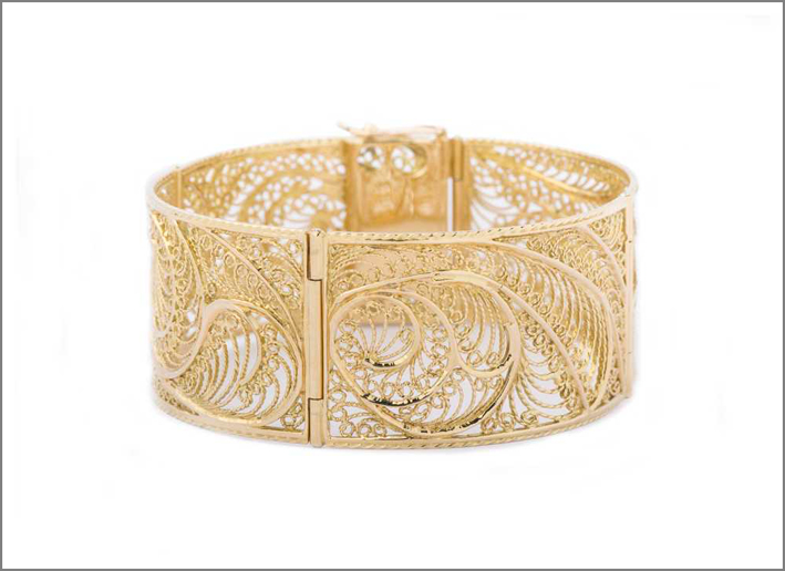 Bracciale in filigrana d'oro Meti
