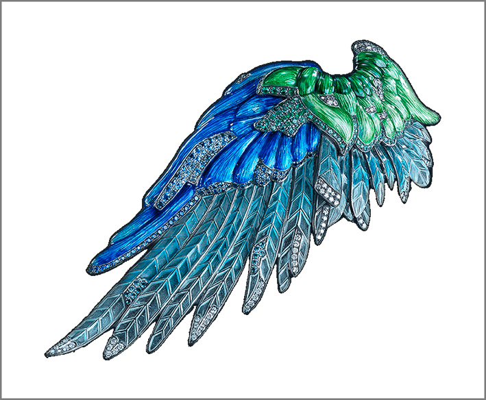 Spilla a forma di ala, Luz Camino