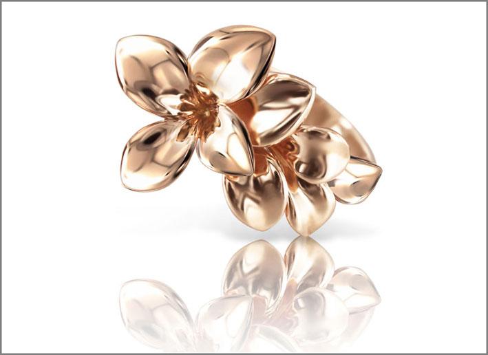 Stelle in Fiore, anello in oro rosa