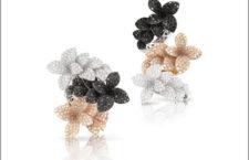 Pasquale Bruni, collezione Stelle in fiore, anelli  con diamanti bianchi, neri e champagne