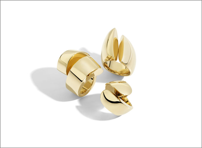 Vhernier anelli KIss Spire Eclisse in oro