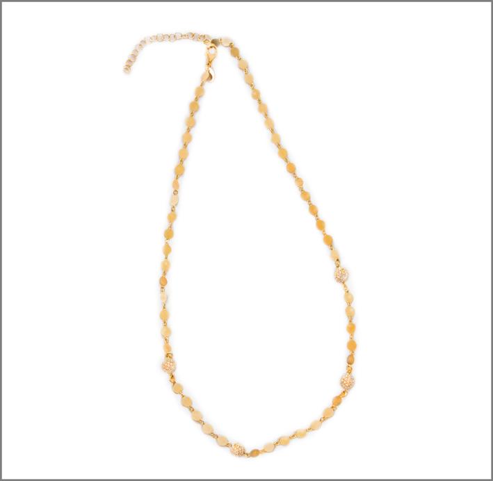 Collana in argento placcata oro