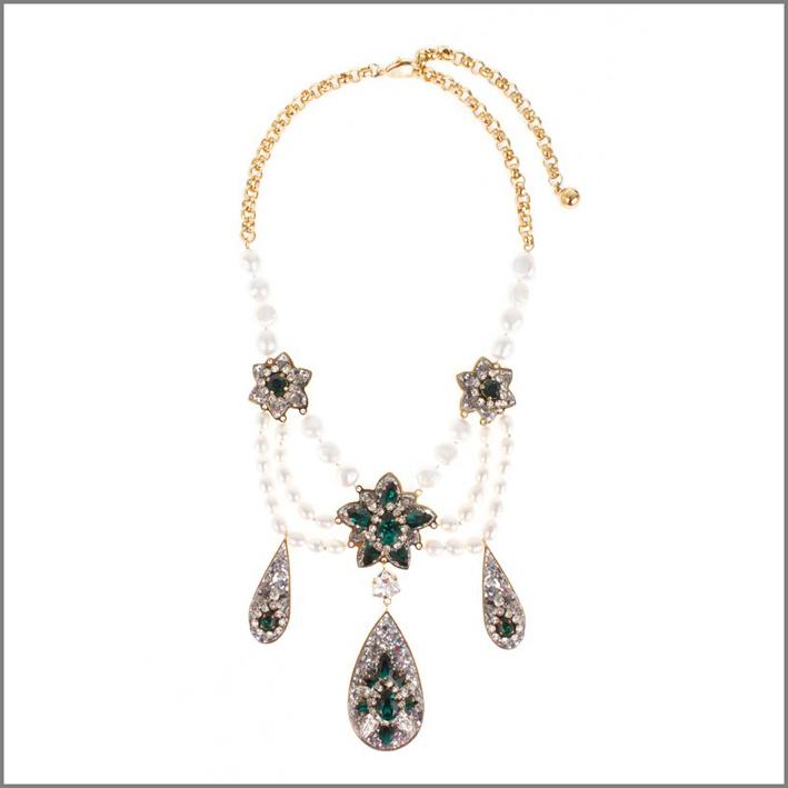 Collana Luna smeraldo. Prezzo: 483 euro