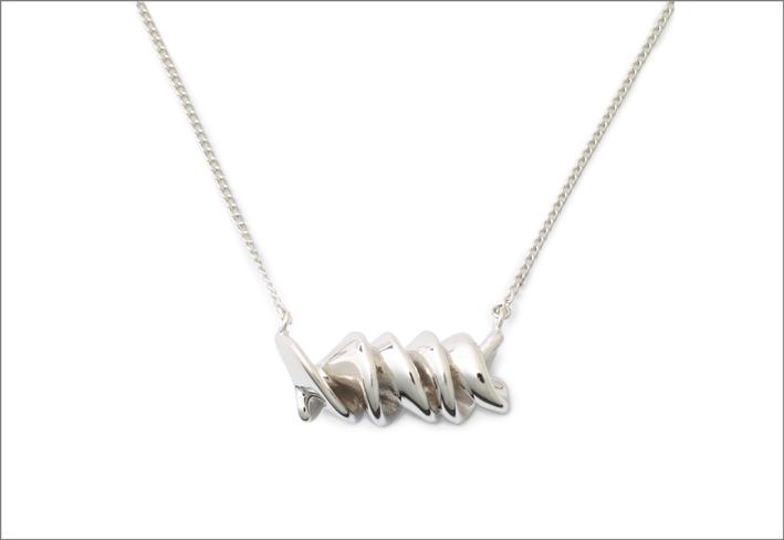 Collana torciglione in argento