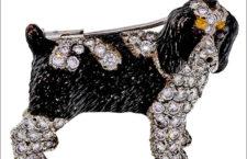 E. Wolfe Brittany o Springer, spilla Spaniel in oro e diamanti