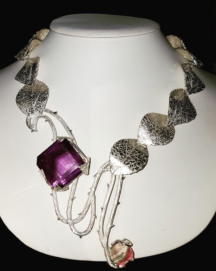 Collana in argento con ametista