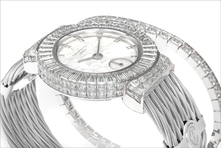 Charriol, orologio bracciale Invisible, particolare del quadrante
