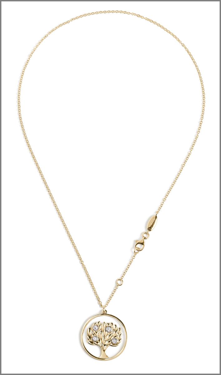 Collana con pendente con la forma del logo di Alfieri & StJohn