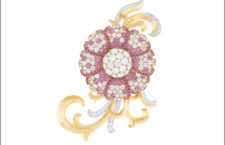 Clip di Primerose Watch, in oro giallo e bianco, con  diamanti