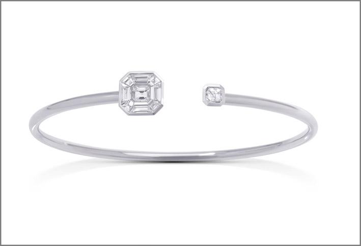 Bracciale in oro bianco e diamanti della collezione Ice Zeit