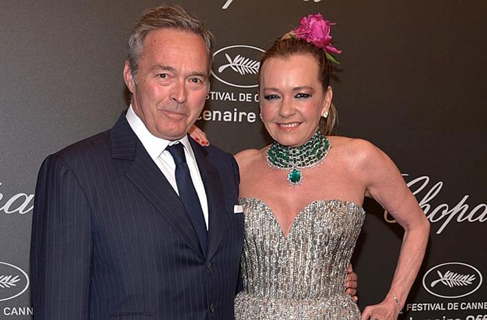 I co-presidenti di Chopard, Karl Friedrich e Caroline Scheufele al Festival di Cannes