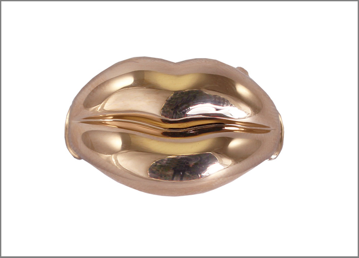 Lips, in oro rosa