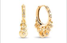 Orecchini in oro e diamanti con a frange
