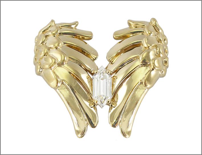 Wing, in oro bianco e diamante