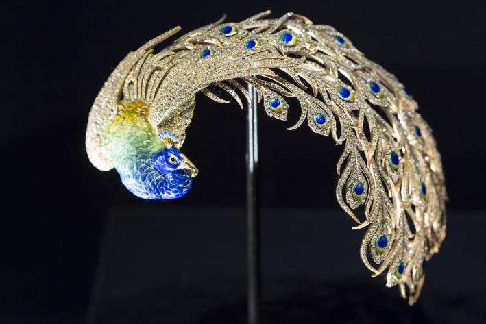 L'aigrette a forma di pavone che fa parte oggi della collezione Al Thani