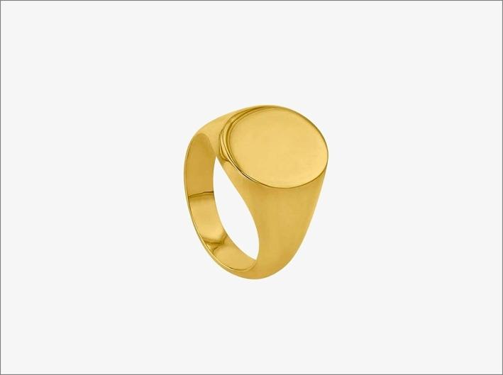 Anello chevalier per uomo in oro