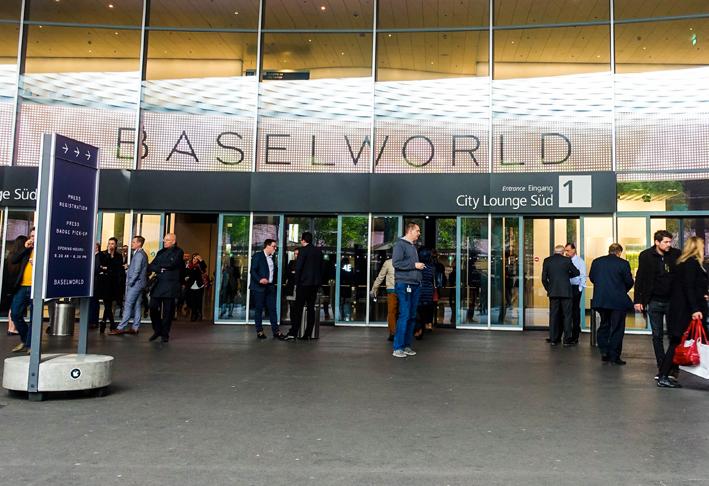 Ingresso principale allo spazio espositivo di Baselworld