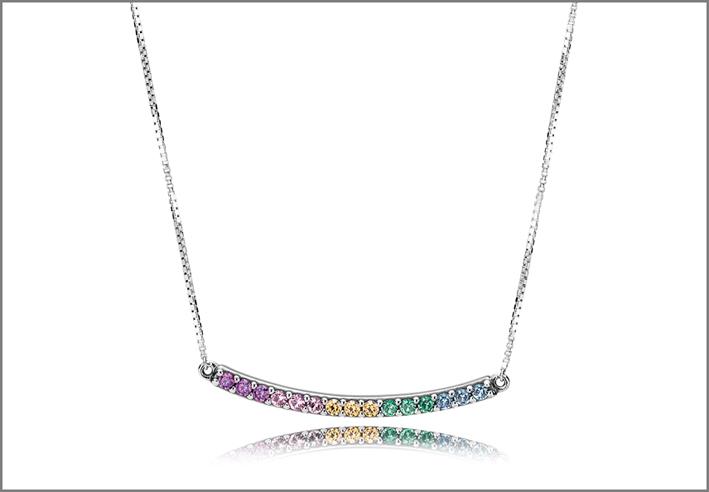 Collana della linea Rainbow Heart