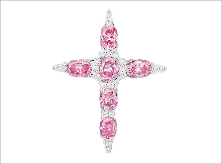 Croce con diamanti e zaffiri di Gorgoglione
